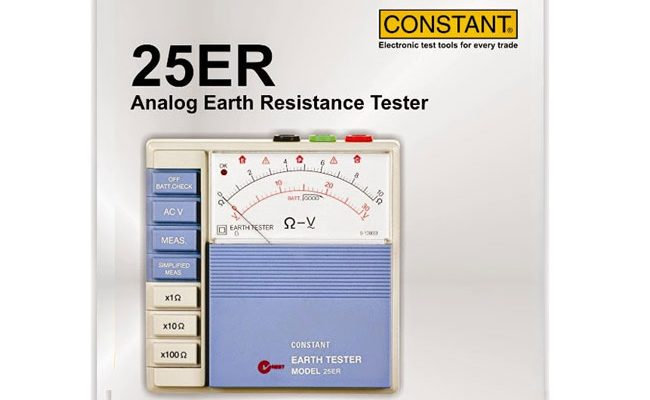 25 ER ANALOG EARTH RESISTANCE TESTER